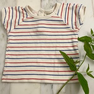 Soft Baby Red White + Blue Organic Cotton Tee 🇺🇸